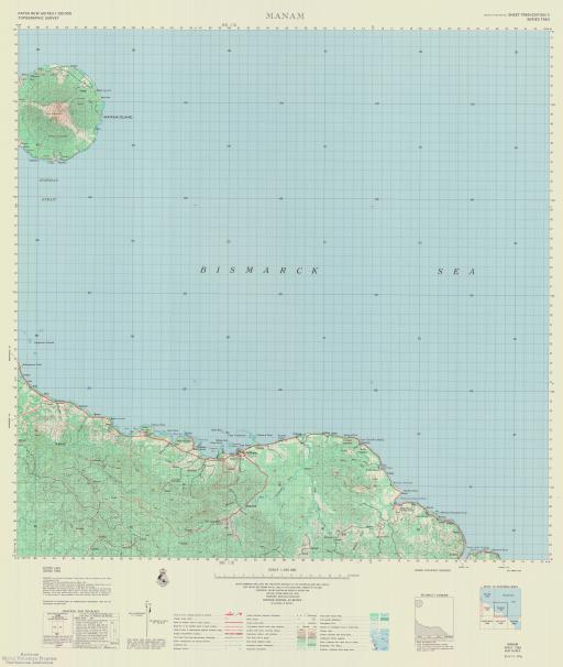 Map of Manam