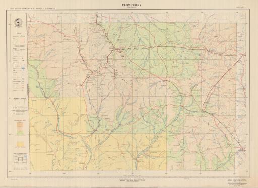 Map of Cloncurry, Queensland