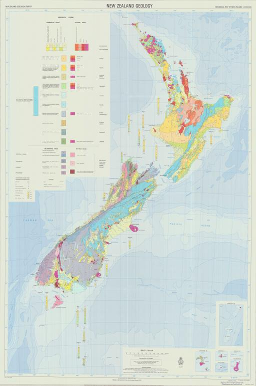 Map of New Zealand Geol
