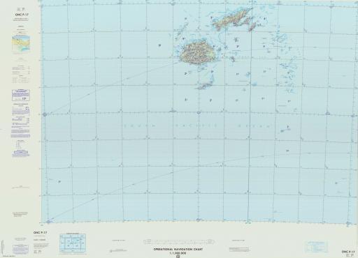 Map of Fiji, New Caledonia, Tonga