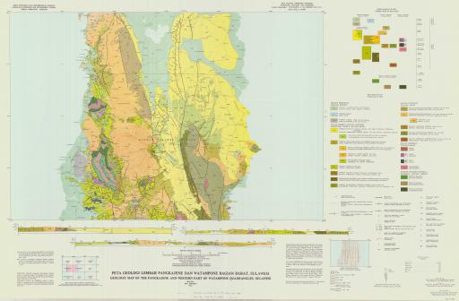 Map of Geologic Map of the Pankajene and Western Part of Watampone Quadrangles, Sulawesi