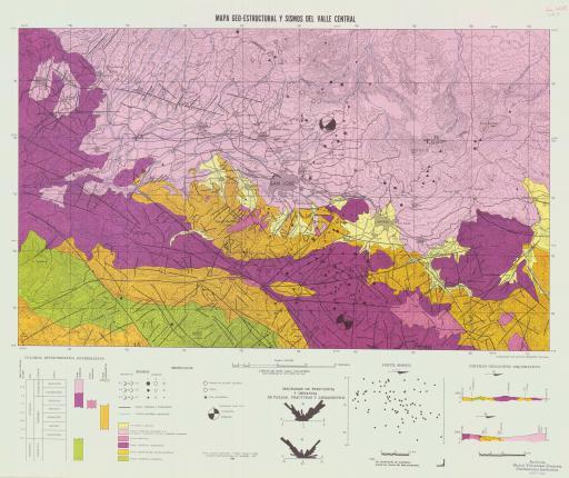 Map of Mapa Geo-Estructural Y Sismos del Valle Central