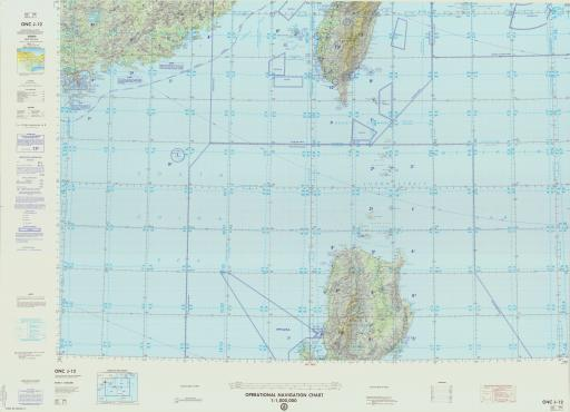 Map of China, Hong Kong & New Terr., Philippines, Ryuku Islands, Taiwan