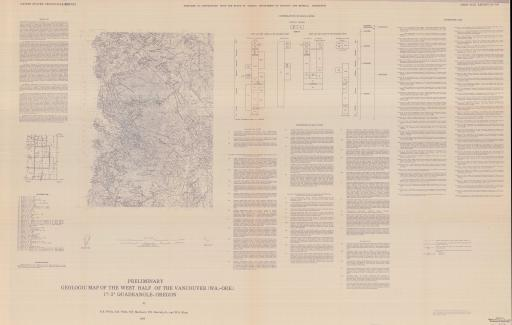 Map of Vancouver, Prel Geol Map of W Half