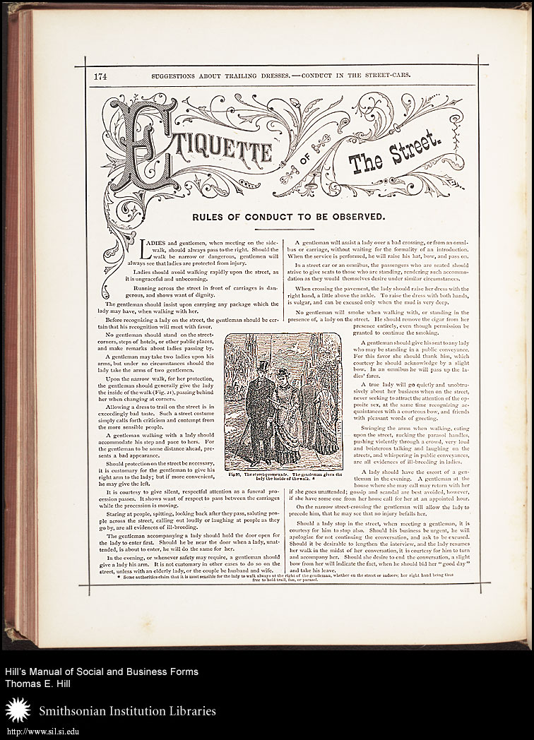 pg 174, Etiquette of the Street,  Image number:SIL7-91-03a
