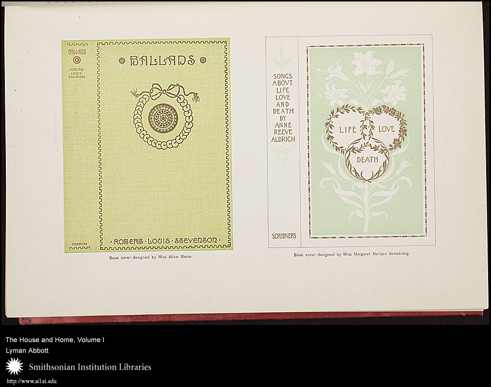 Women of the Victorian era could use their love of decoration to supplement their household income by designing things like book covers.,  Image number:sil7-87-02a