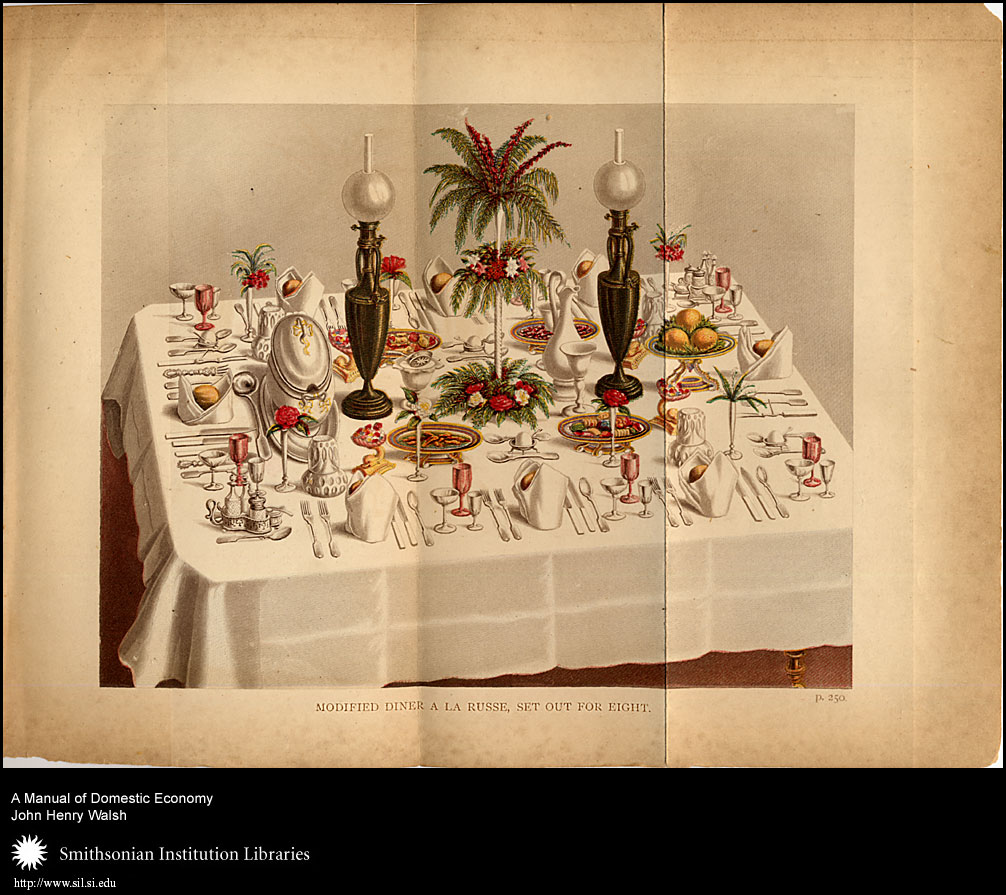 A well set table was a sign of a well kept home.,  Image number:sil7-93-04a