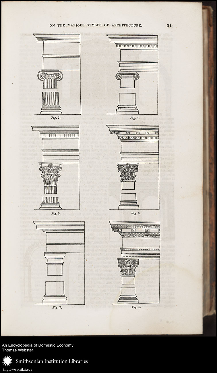 Displayed here are several column orders for wealthier homes.,  Image number:sil7-94-02a