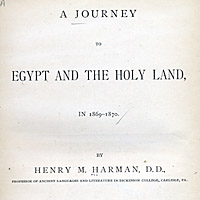 Journey to Egypt and the Holy Land in 1869-1870