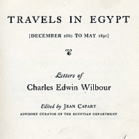 Travels in Egypt (December 1880 to May 1891)