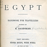 Egypt: Handbook for Travellers; Upper Egypt, With Nubia as Far as the Second Cataract and the Western Oases