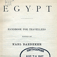Egypt: Handbook for Travellers