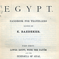 Lower Egypt; Handbook for Travellers