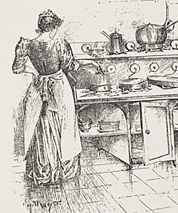 The modern convenience of an electric kitchen became popular among those with access to electricity and the income to afford it.