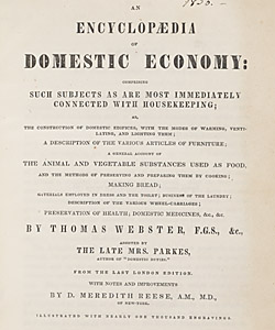 The comprehensive title page of Thomas Webster's