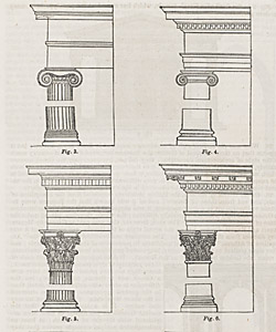 Displayed here are several column orders for wealthier homes.