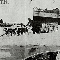 Parcel post transported by ship to Alaska and then overland by