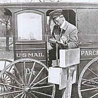 Delivery of butter and eggs by parcel post