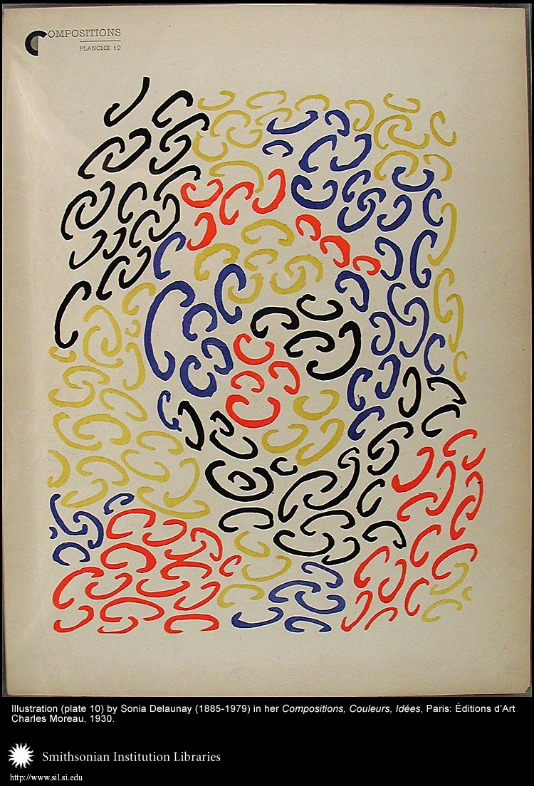 Illustration (plate 10) by Sonia Delaunay (1885-1979)