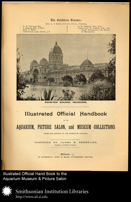 Title Page: Exhibition Building, Melbourne,  Image number:sil24-012-01