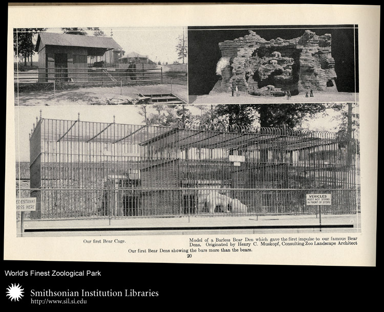 Several bear enclosures.,  Image number:sil24-014-02