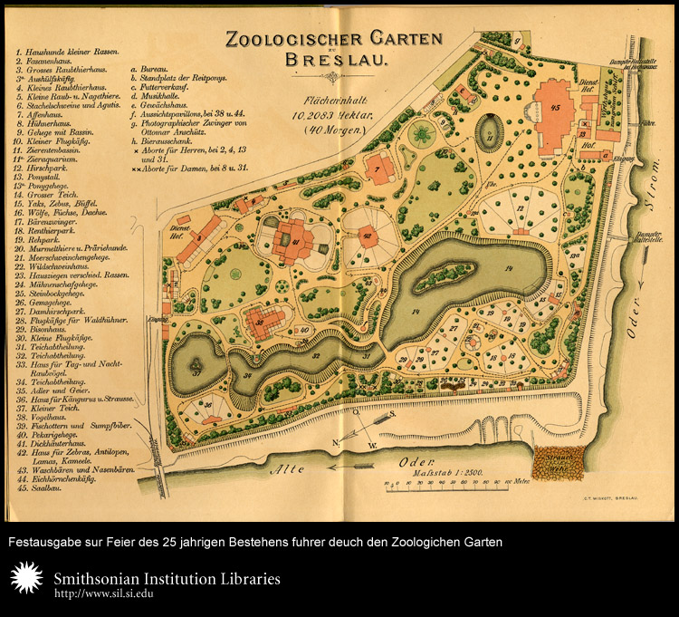 Map of the Breslau zoo.,  Image number:sil24-017-02