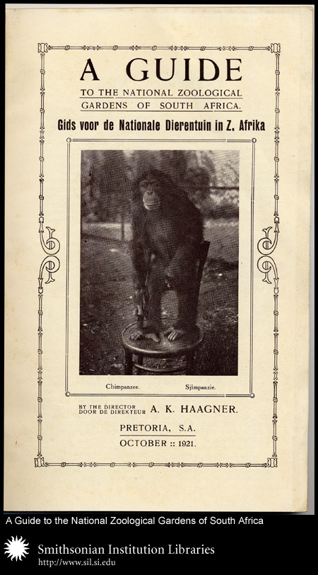 Cover, with chimpanzee,  Image number:sil24-021-01