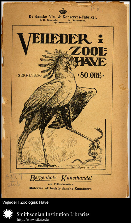 Cover, with Secretary Bird and snake,  Image number:sil24-023-02