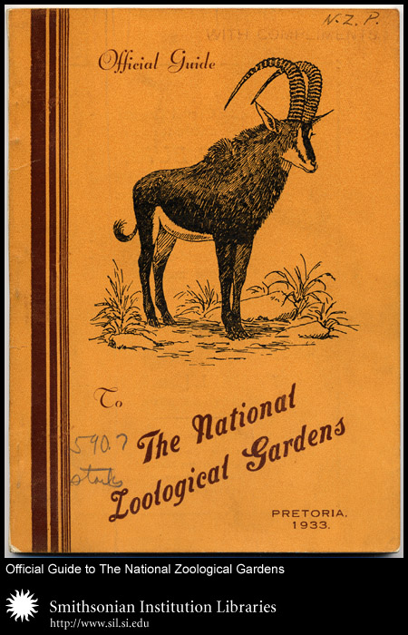 Cover, guide to a South African zoo before the Second World War.,  Image number:sil24-024-01