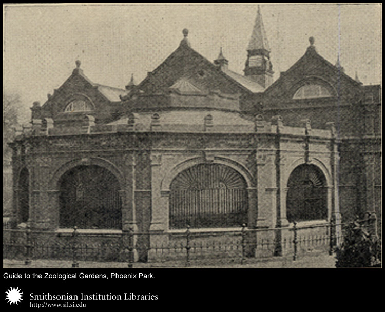 Buildings at the Royal Zoological Gardens, Phoenix Park,  Image number:sil24-030-01b