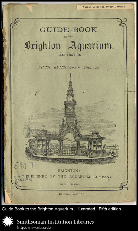 A guide and history of Brighton Aquarium. Probably around 1880.,  Image number:sil24-034-01