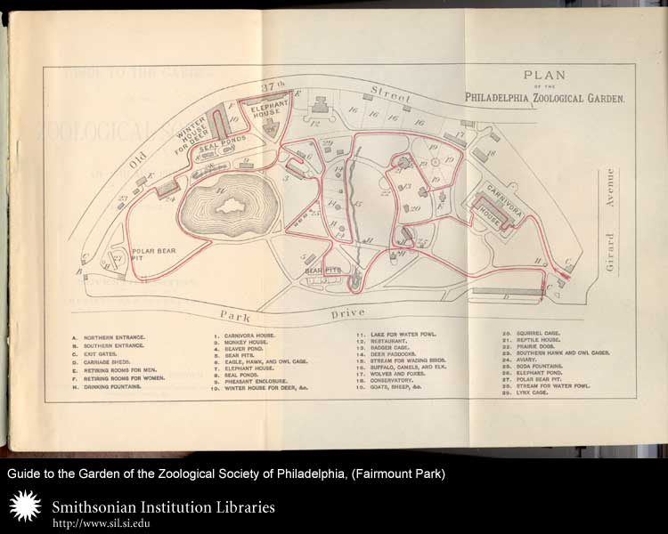 Plan of the Philadelphia Zoological Garden,  Image number:sil24-045-01